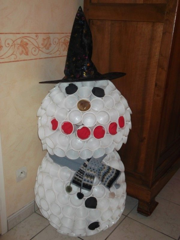 Bonhomme de neige - Bonhomme de neige en verre plastique ...