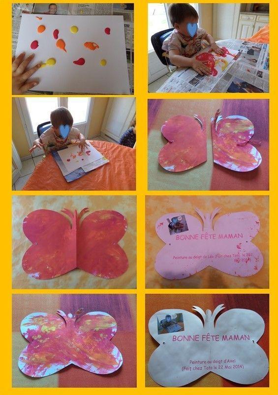 Carte papillon fête des mères